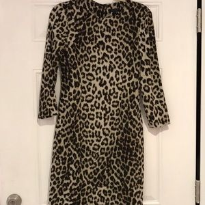 Rag & Bone brown leopard print dress